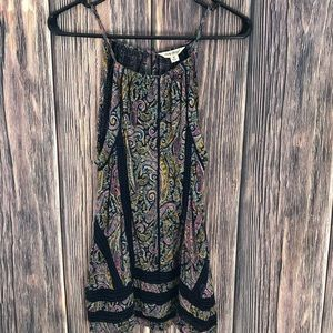 Lucky Brand M Paisley Top camisole tank